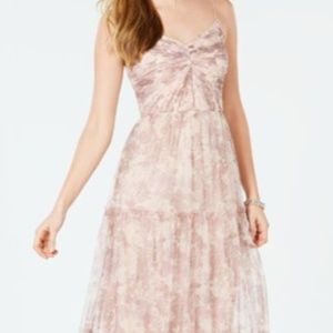 Adrianna Papell Pink Floral Maxi Dress